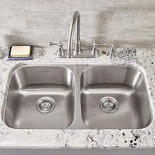 See Details - Portsmouth Double Bowl Kitchen Sink  American Standard - Stainless Steel