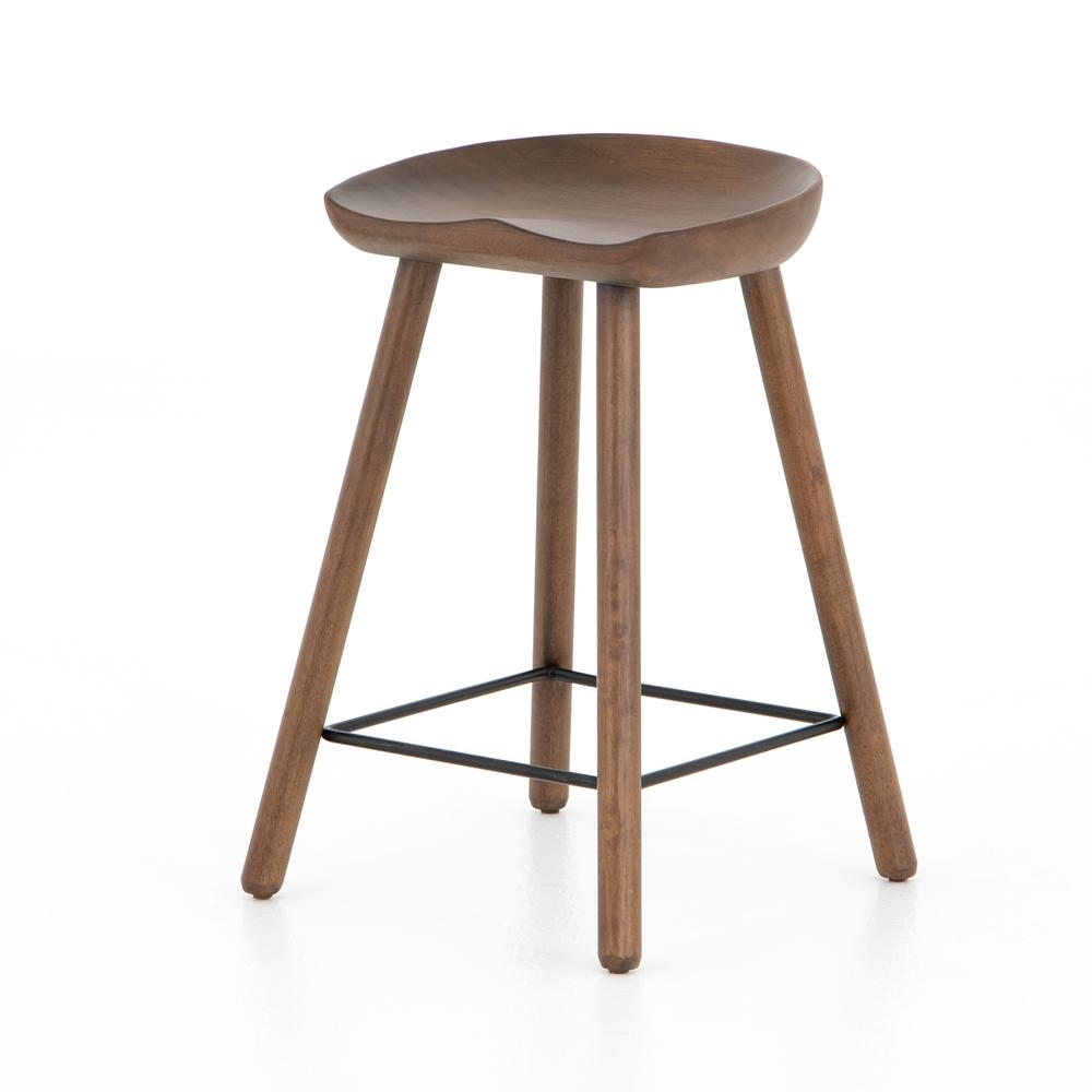 Counter Size Dark Parawood Finish Barrett Bar + Counter Stool