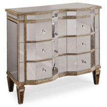 Living Room Mirrored Three Drawer Chest