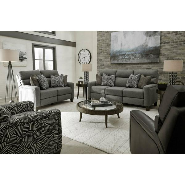 See Details - Double Reclining Power Headrest Sofa with Pillows