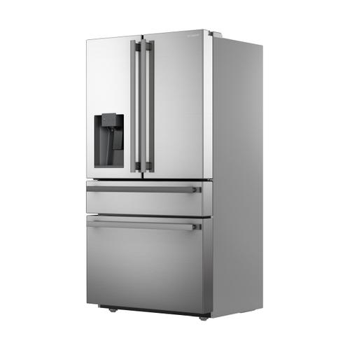 Sharp French 4-Door Counter-Depth Refrigerator with Water Dispenser