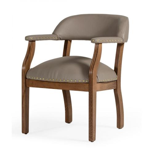 Gallery - Modrest Canosa Modern Taupe Faux Leather Dining Chair (Set of 2)