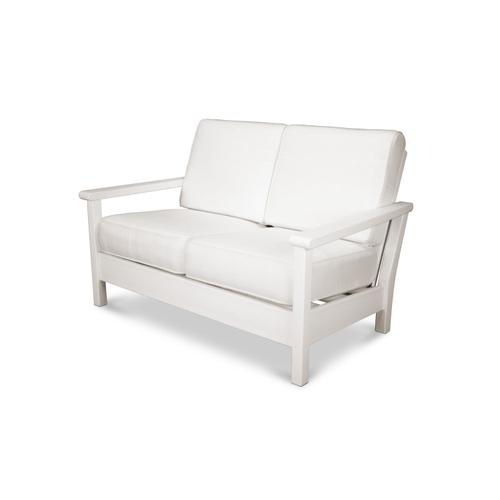 White & Natural Harbour Deep Seating Settee