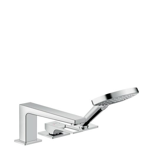 Chrome 3-Hole Roman Tub Set Trim with Loop Handle and 1.75 GPM Handshower