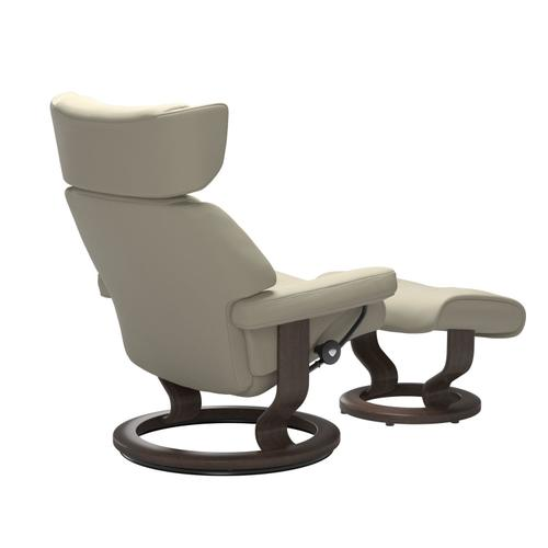 Stressless By Ekornes - Stressless® Skyline (S) Classic chair with footstool