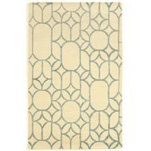 See Details - Aspire Wool Window Ivory/turqu