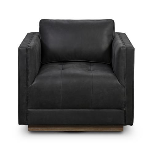 Umber Black Cover Kiera Swivel Chair