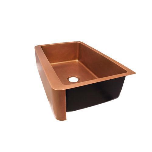 "Austin Single Bowl Copper Farmer Sink - 33"""
