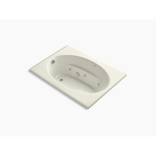 "Biscuit 60"" X 42"" Drop-in Rim Style Whirlpool"