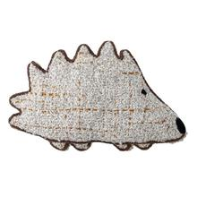 """See Details - 12""""L x 8""""H Acrylic Boucle Embroidered Hedgehog Shaped Pillow"""