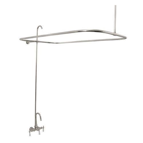 Tub/Shower Converto Unit - Gooseneck Spout for Cast Iron Tubs