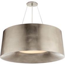 Barbara Barry Halo 3 Light 28 inch Burnished Silver Leaf Hanging Shade Ceiling Light, Medium