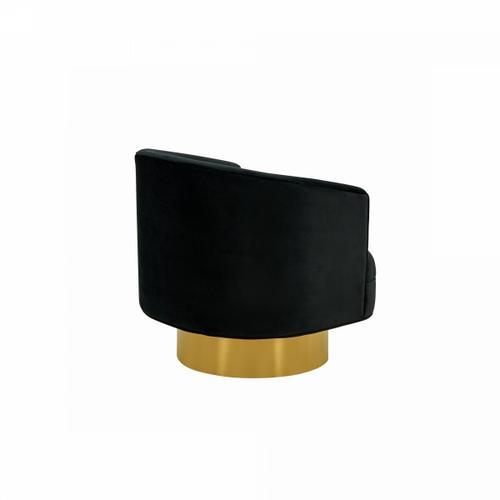 Gallery - Divani Casa Basalt - Modern Black Fabric Accent Chair