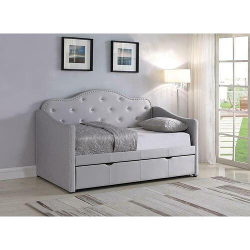 Pearlescent Grey Upholstered Daybed