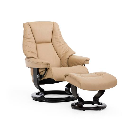 Stressless By Ekornes - Stressless Live Small Classic Base Chair and Ottoman