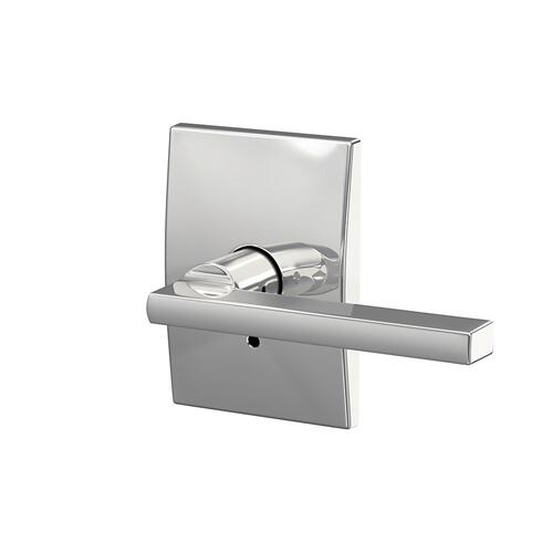 Custom Latitude Lever with Century Trim Hall-Closet and Bed-Bath Lock - Bright Chrome