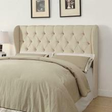 Murietta Traditional Beige Upholstered Queen Headboard