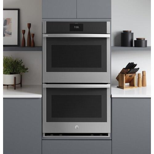 "GE Profile™ 30"" Smart Built-In Convection Double Wall Oven with No Preheat Air Fry and Precision Cooking"