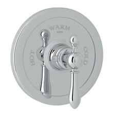 Arcana Thermostatic Trim Plate without Volume Control - Polished Chrome with Metal Lever Handle