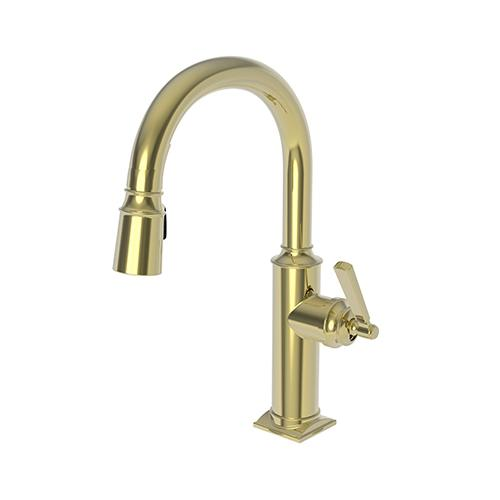 Newport Brass - Uncoated Polished Brass - Living Prep/Bar Pull Down Faucet