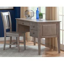 See Details - 2-Drw Lancaster Executive Shaker Desk in Taupe Gray
