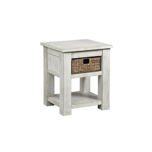 Chairside Table - White Wash Finish