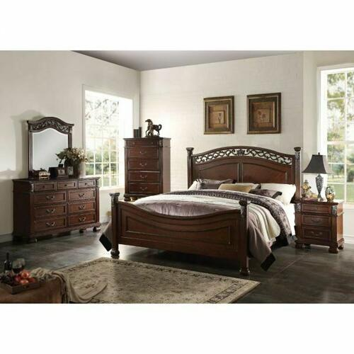 ACME Manfred California King Bed - 22764CK - Dark Walnut