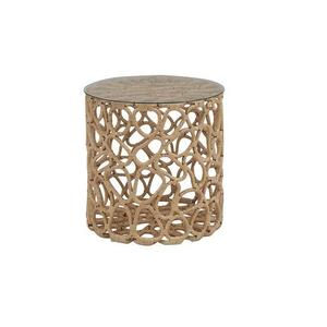Cylinder Table/Stool - Ecru Finish