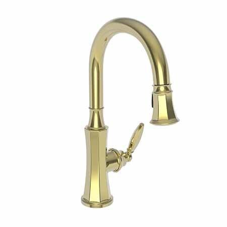 Uncoated Polished Brass - Living Pull-down Kitchen Faucet