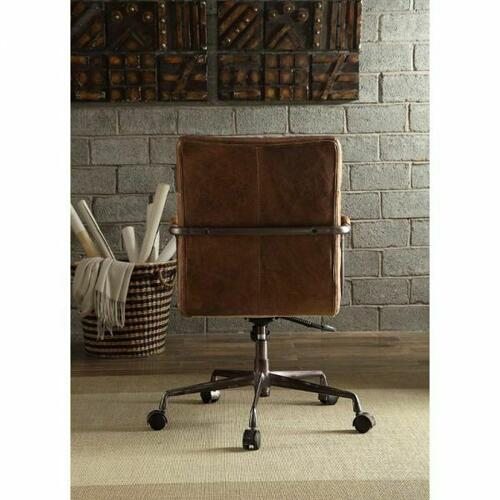 ACME Harith Executive Office Chair - 92414 - Retro Brown Top Grain Leather