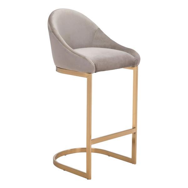 See Details - Scott Bar Chair Gray