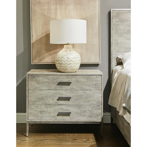 Cameron Large Nightstand - Raw Silk
