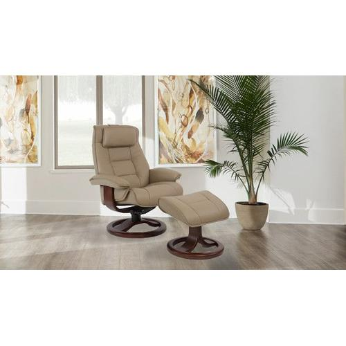 Fjords - Mustang R Manual Small Recliner With Footstool
