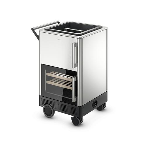 Dometic Mobar - Outdoor mobile bar, rotomolded basket, single zone refrigerator, stainless-steel