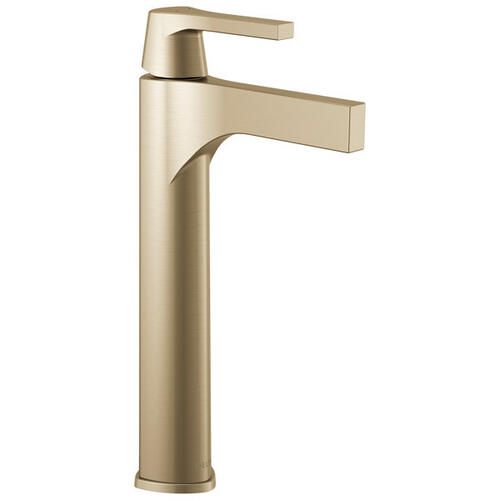 Champagne Bronze Single Handle Vessel Bathroom Faucet