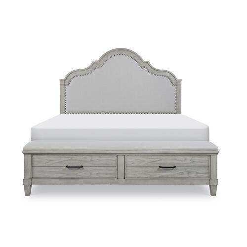 Belhaven Uph Panel Bed w/Storage Footboard, Queen 5/0