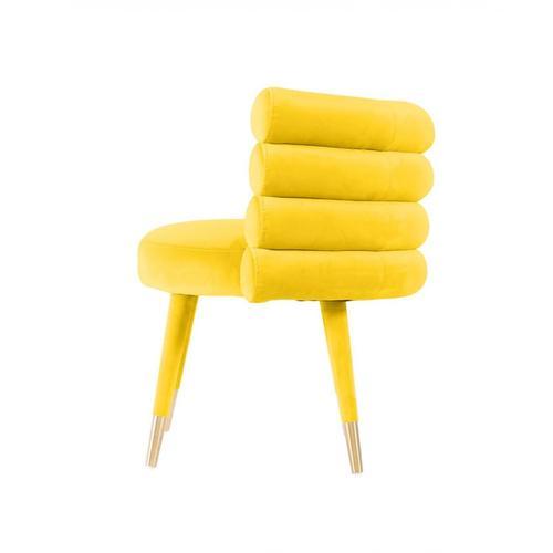 VIG Furniture - Modrest Otero - Modern Yellow & Gold Velvet Accent Chair