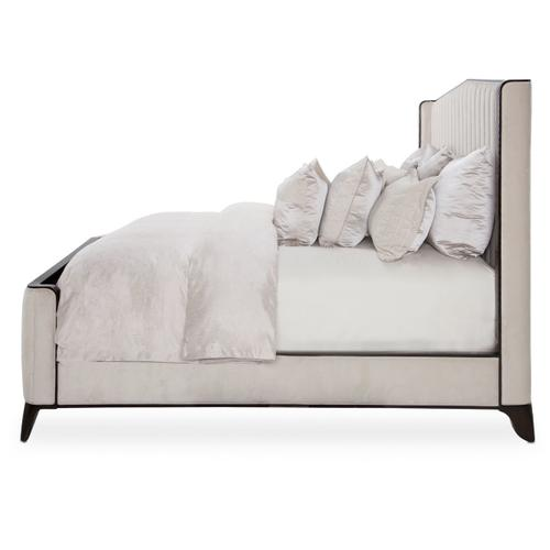 Amini - Eastern King Tufted Panel Bed (3 Pc)