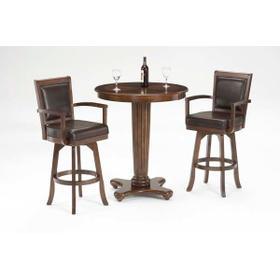 Ambassador Bar Height Bistro Table, Medium Brown Cherry