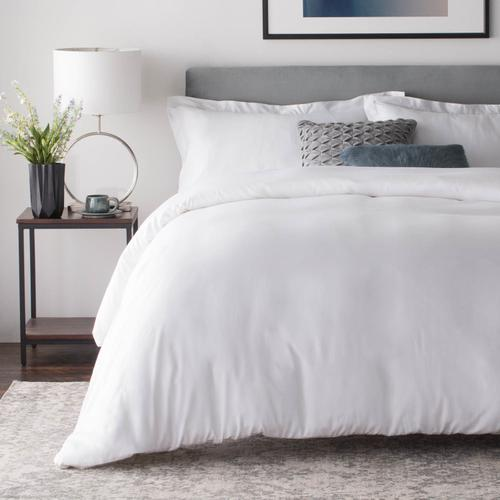 Rayon From Bamboo Duvet Set Oversized King Driftwood