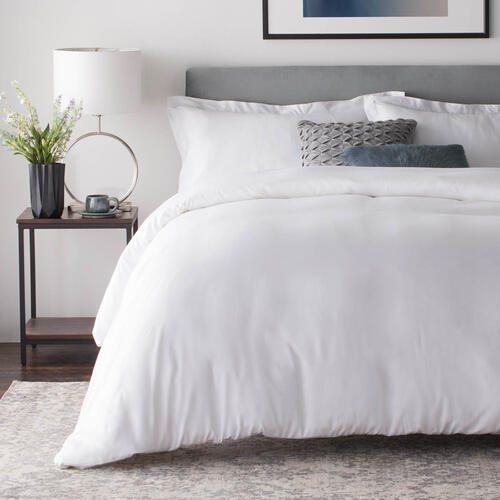 Rayon From Bamboo Duvet Set Oversized Queen White