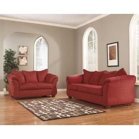 Darcy Sofa & Loveseat Salsa