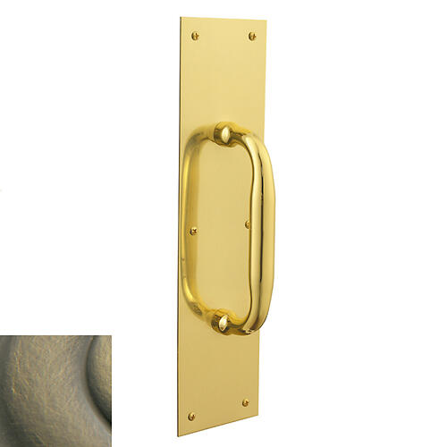 Satin Brass and Black 2560 Pull x 2121 Pull Plate