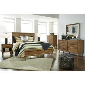 Broshtan 4 Pc. Queen Bedroom Set Light Brown