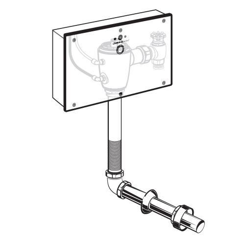 American Standard - Selectronic Concealed Toilet Flush Valve with Wall Box for Floor-Mount, Back Spud Bowls  American Standard - No Finish