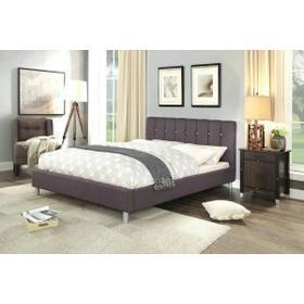 ACME Mert Queen Bed - 26490Q - Gray Linen