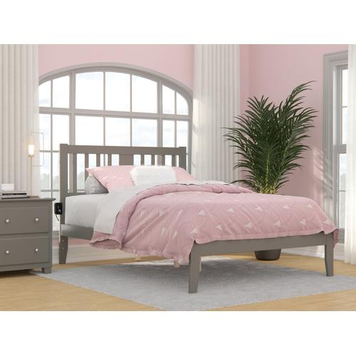 Atlantic Furniture - Tahoe Full Bed with USB Turbo Charger in Grey