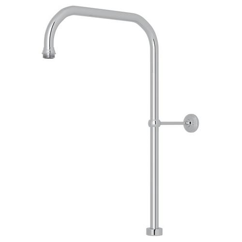 """Polished Chrome Perrin & Rowe 40"""" X 15"""" Rigid Riser Shower Outlet"""