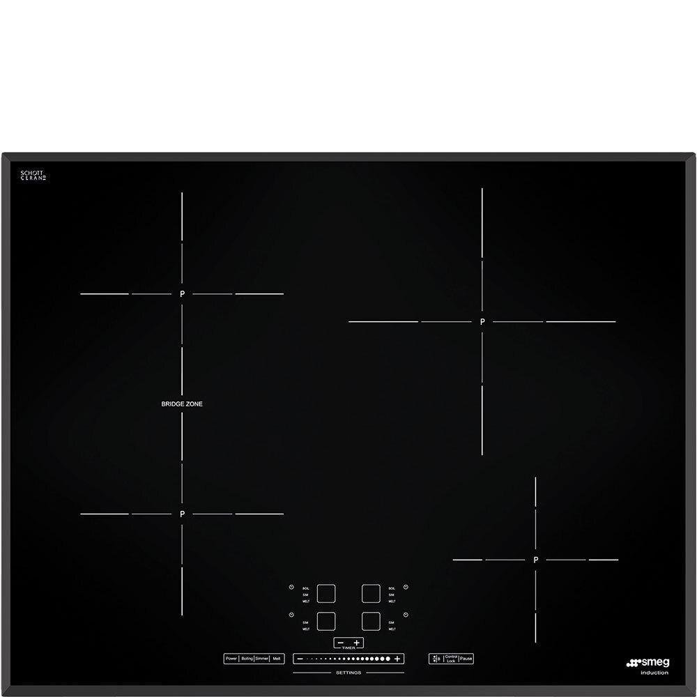 SmegCooktop Black Simu524b