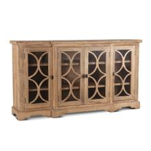 "San Rafael 75"" Glass Cabinet Antique Oak"